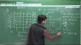ARITHMETIC PROGRESSION NCERT CLASS 10 PART 1 OF 4 (in Hindi+English)