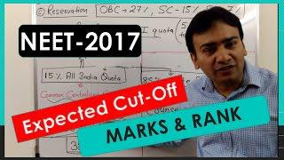 Expected Cut-off Marks and Rank analysis for NEET - 2017