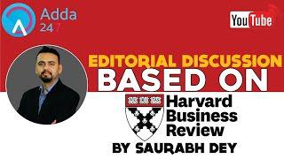 Exam Based Article For SBI PO - Harvard Business Review Special # RESTREAM